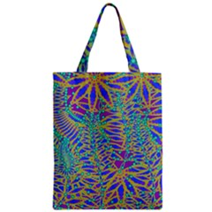 Abstract Floral Background Zipper Classic Tote Bag