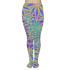 Abstract Floral Background Women s Tights