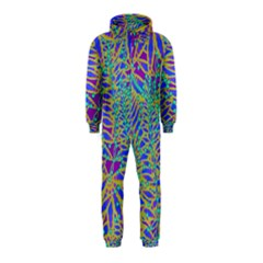 Abstract Floral Background Hooded Jumpsuit (Kids)