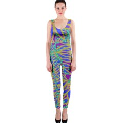 Abstract Floral Background Onepiece Catsuit
