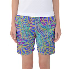 Abstract Floral Background Women s Basketball Shorts