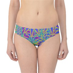 Abstract Floral Background Hipster Bikini Bottoms