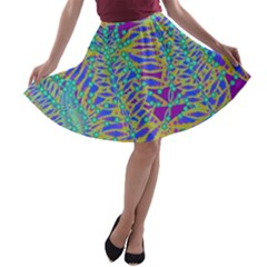 Abstract Floral Background A-line Skater Skirt