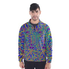 Abstract Floral Background Wind Breaker (men)