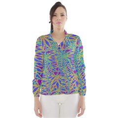 Abstract Floral Background Wind Breaker (Women)