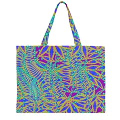 Abstract Floral Background Large Tote Bag