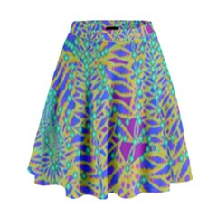 Abstract Floral Background High Waist Skirt