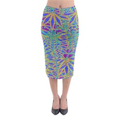 Abstract Floral Background Midi Pencil Skirt