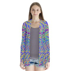 Abstract Floral Background Cardigans