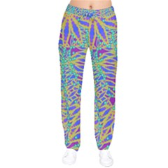 Abstract Floral Background Drawstring Pants