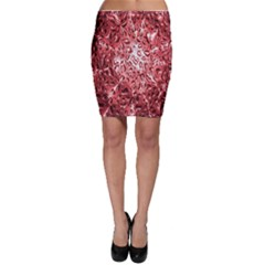 Water Drops Red Bodycon Skirt