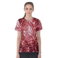 Water Drops Red Women s Cotton Tee