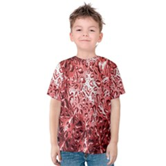 Water Drops Red Kids  Cotton Tee