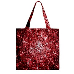 Water Drops Red Grocery Tote Bag