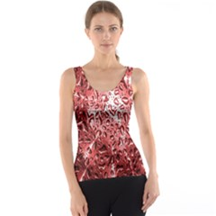 Water Drops Red Tank Top