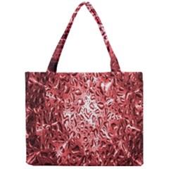 Water Drops Red Mini Tote Bag