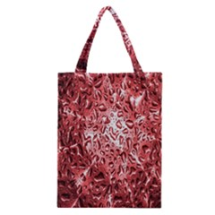 Water Drops Red Classic Tote Bag