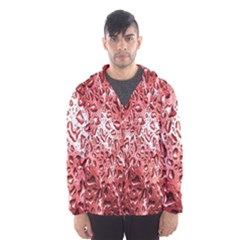 Water Drops Red Hooded Wind Breaker (men)