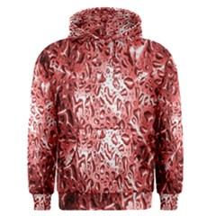 Water Drops Red Men s Pullover Hoodie