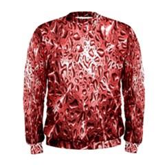 Water Drops Red Men s Sweatshirt