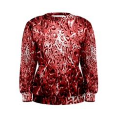 Water Drops Red Women s Sweatshirt