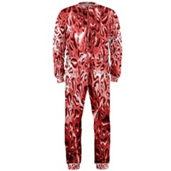 Water Drops Red OnePiece Jumpsuit (Men)