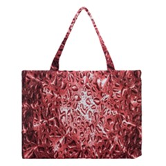 Water Drops Red Medium Tote Bag