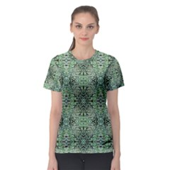 Seamless Abstraction Wallpaper Digital Computer Graphic Women s Sport Mesh Tee