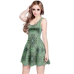 Seamless Abstraction Wallpaper Digital Computer Graphic Reversible Sleeveless Dress
