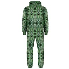 Seamless Abstraction Wallpaper Digital Computer Graphic Hooded Jumpsuit (Men)
