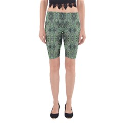 Seamless Abstraction Wallpaper Digital Computer Graphic Yoga Cropped Leggings