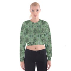 Seamless Abstraction Wallpaper Digital Computer Graphic Cropped Sweatshirt