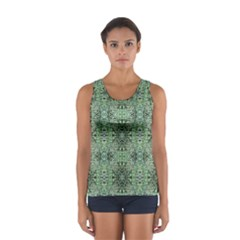 Seamless Abstraction Wallpaper Digital Computer Graphic Women s Sport Tank Top