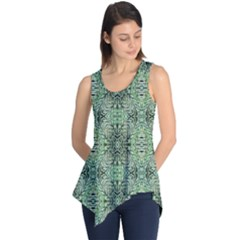 Seamless Abstraction Wallpaper Digital Computer Graphic Sleeveless Tunic