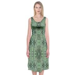 Seamless Abstraction Wallpaper Digital Computer Graphic Midi Sleeveless Dress