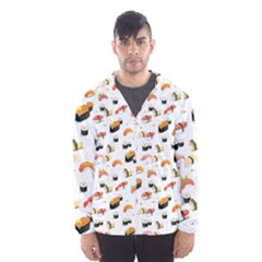 Sushi Lover Hooded Wind Breaker (men)