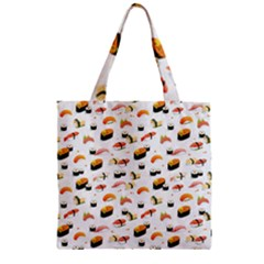 Sushi Lover Zipper Grocery Tote Bag