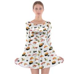 Sushi Lover Long Sleeve Skater Dress