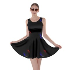 Tranquil Abstract Pattern Skater Dress