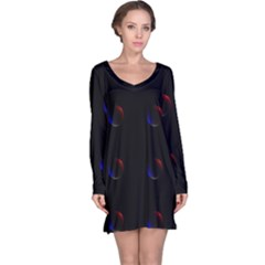 Tranquil Abstract Pattern Long Sleeve Nightdress