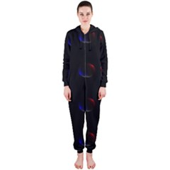 Tranquil Abstract Pattern Hooded Jumpsuit (Ladies)