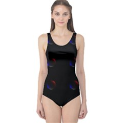 Tranquil Abstract Pattern One Piece Swimsuit