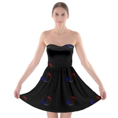 Tranquil Abstract Pattern Strapless Bra Top Dress