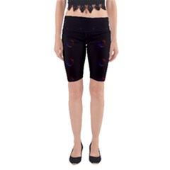 Tranquil Abstract Pattern Yoga Cropped Leggings