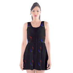 Tranquil Abstract Pattern Scoop Neck Skater Dress
