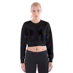 Tranquil Abstract Pattern Cropped Sweatshirt