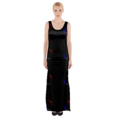 Tranquil Abstract Pattern Maxi Thigh Split Dress