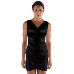 Tranquil Abstract Pattern Wrap Front Bodycon Dress