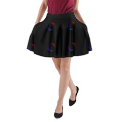 Tranquil Abstract Pattern A Line Pocket Skirt