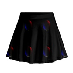 Tranquil Abstract Pattern Mini Flare Skirt
